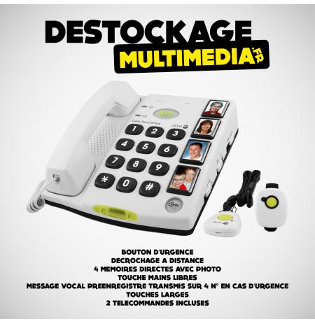 Téléphone Doro Care Secure Plus Bouton d'urgence et larges touches
