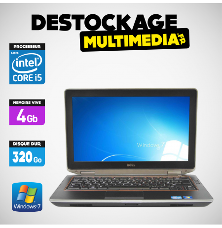 DELL Latitude E6320 Core I5 2.5Ghz 4Go 320GO-Windows 7 Pro 64