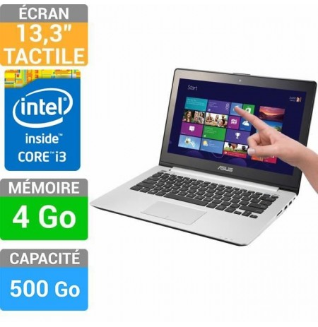 "ASUS VivoBook S301LA-C1027H Ordinateur Portable 13.3 "" Tactile 4 Gb 500 Go Windows 10 Noir Garantie 1 an"