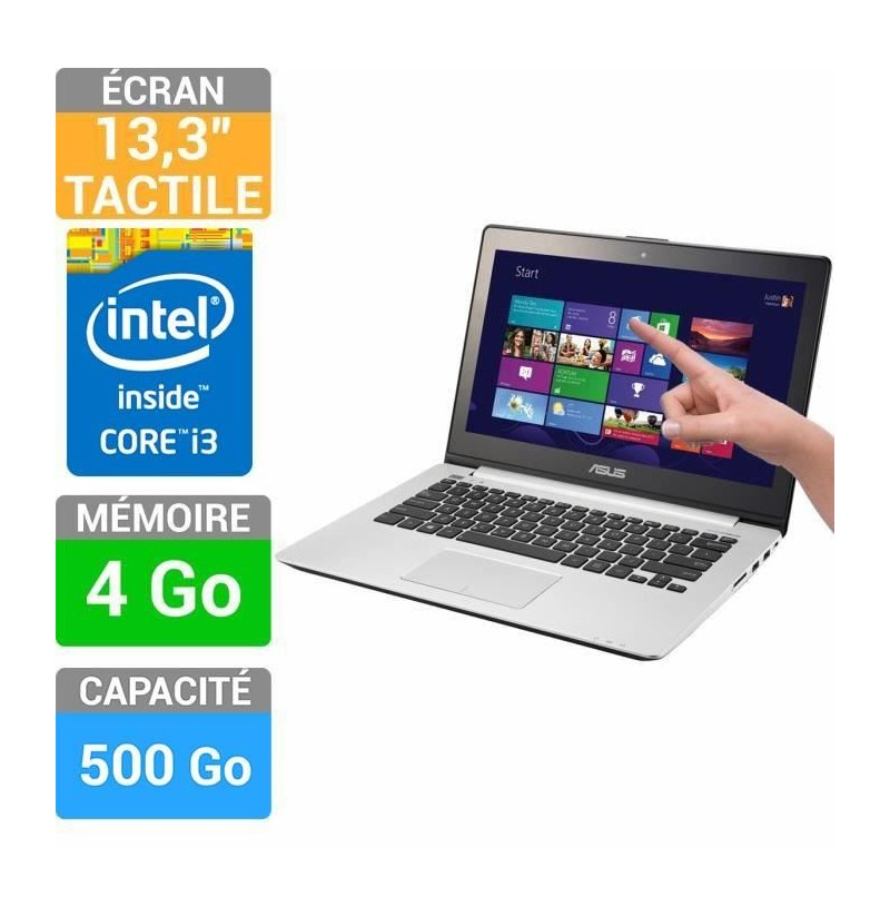 asus s301la c1027h ordinateur portable 133 tactile 4 gb 500 go windows 10. Black Bedroom Furniture Sets. Home Design Ideas