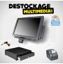 Pack Caisse Enregistreuse Tactile ibm Toshiba AnyPlace Kiosk 4838-710 17 pouces Avec Logiciel Normes 2018