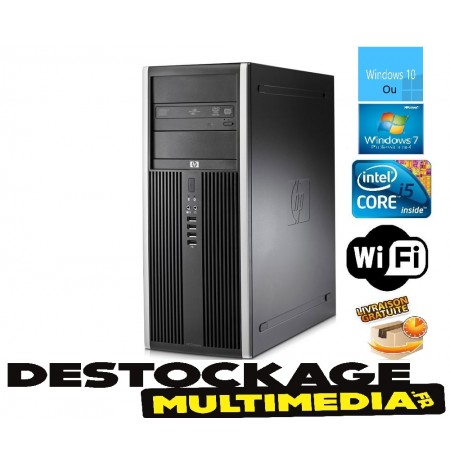 HP Compaq 8200 Elite Tower PC - Intel Core i5-2400 (4 x 3.1GHz) - 4GB RAM - 250GB HDD - DVD-RW - Win 7 Pro Ou 10 Wifi