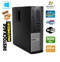 Dell Optiplex 790 core i3 2120 3.3GHZ 4Go 500Go (Neuf) Windows 7 ou 10 Word Excel Wifi