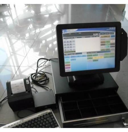Caisse enregistreuse tactile Fec Complète avec Afficheur client tous commerces Logiciel normes NF525