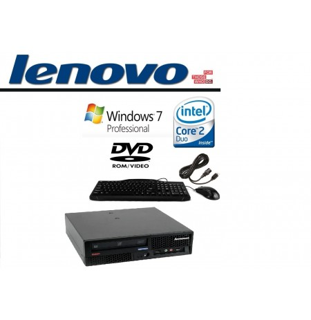 Lenovo ThinkCentre M58p Small Form Factor Intel Core 2 Duo E8400 3GHz 4GB RAM 160G HDD DVDrw Windows 7