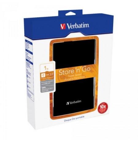 Disque dur externe HDD 2.5 USB3 1TB Verbatim Store n Go Black