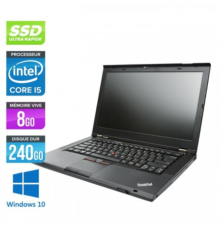 Lenovo Thinkpad T430 Laptop i5 3320M 2.6Ghz 8 GB 240GB SSD Windows 10 ou Windows 7 garantie 1 an livraison gratuite