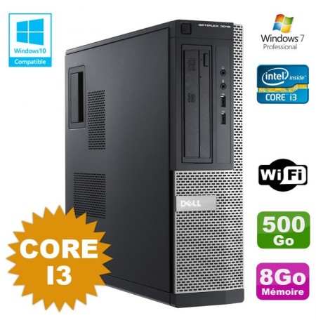 DELL Optiplex 3010 - Core i3 3.30Ghz / 500Go HDD / 8Gb RAM/Dvdrw/Wifi/Windows 7 pro ou 10