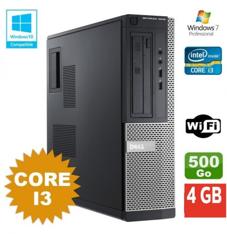 DELL Optiplex 3010 - Core i3 3.30Ghz / 500Go HDD / 4Gb RAM/Dvdrw/Wifi/Windows 7 pro ou 10