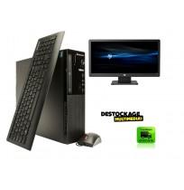 LENOVO E72 SSF INTEL PENTIUM G2030 2,9 GHZ 4GB 500 GO DVDRW WINDOWS 10 ECRAN HP 20 POUCES CLAVIER SOURIS