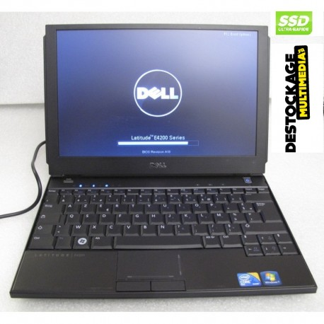 PC portable Dell Latitude E4200 Intel Core 2 Duo SU9600 1.60GHz 128SSD 3GB Windows 7 pro 64bits
