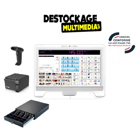 Caisse Enregistreuse Tactile ELIOS AURES Complète avec logiciel de Caisse