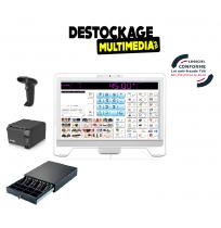 Caisse Enregistreuse Tactile Msi Pro Complète avec logiciel de Caisse Nf 525