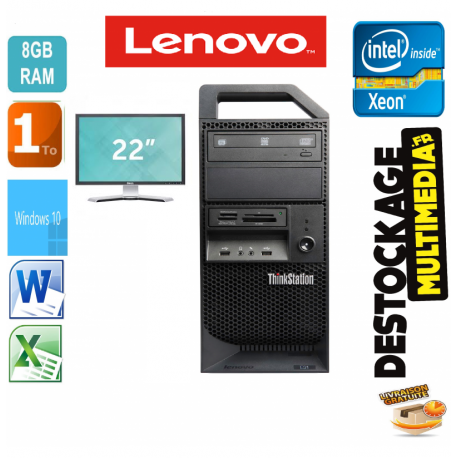 LENOVO ThinkStation E31 XEON E3-1225 V2 3.2GHZ 8 GB 1 TO NVIDIA QUADRO 410 WINDOWS 7 PRO 64 OU WINDOW 10