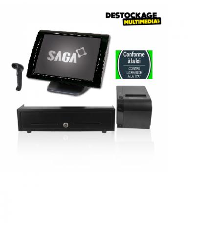 Pack Caisse Enregistreuse Tactile Saga Tous Commerces