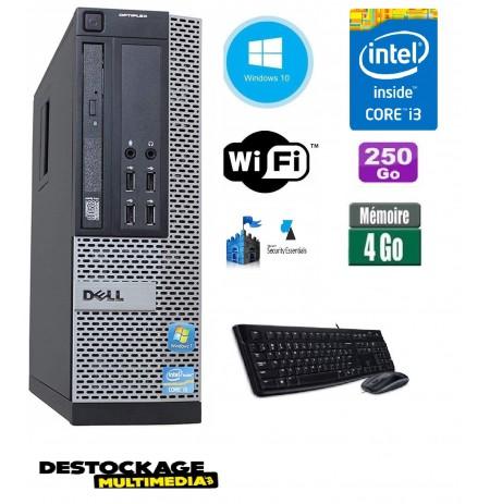 Dell Optiplex 790 SFF Core i3 3.1Ghz 4Gb 250Go wifi Win 10