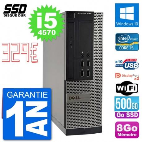 Pc Dell optiplex 7020 sff intel core i5 4570 ram 8go ssd 500 go rs232 windows 10