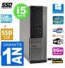 PC DELL OPTIPLEX 7020 SFF INTEL CORE I5 4570 RAM 8GO SSD 128 GO 500 GO HDD WIFI RS232 WINDOWS 10