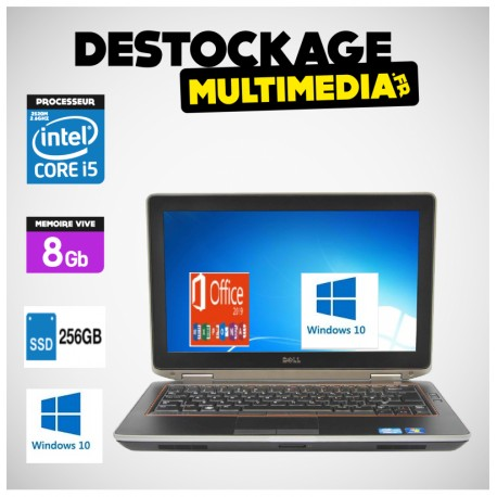 DELL Latitude E6320 Core I5 2.5Ghz 8Go 320GO-Windows 7 Pro 64