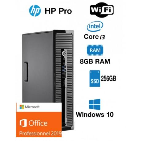 hp prodesk 400 G1 core i3 4130 3.4 ghz 256 ssd go 8 gb wifi windows 10 pro office 2019 pro