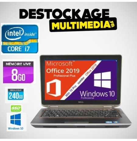 Dell E6430 Core I7 Vpro 250Go SSD 8Gb Windows 10 64 Clavier Francais Garantie 1 An