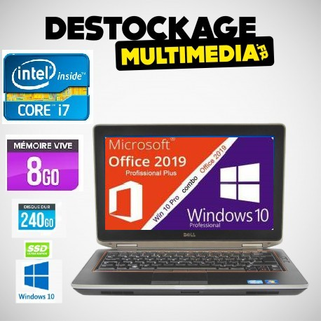 Dell E6430 Core i7 Vpro 320Go 4Gb Windows 7 Pro 64 Clavier Francais Garantie 1 An
