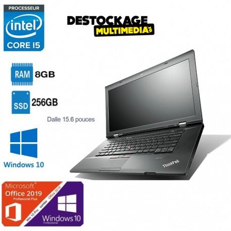 PC Portable Lenovo ThinkPad L530 - 15.6'' HD - Intel Core i5-3320M / 2.60 GHz - RAM 8 Go - SSD 240 Go - Windows 10 Pro