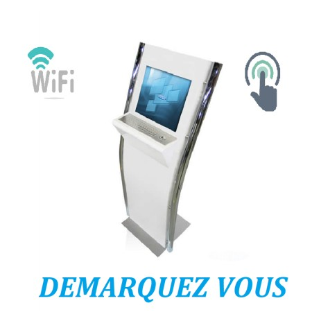 Borne Interactive Ticketing Personnalisable Avec Wifi