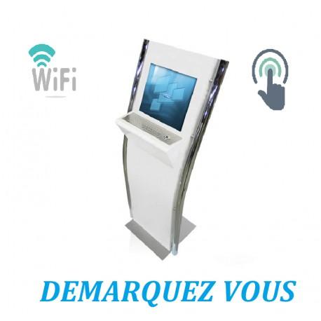 Borne Interactive Ticketing Personnalisable Avec Wifi