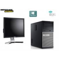 Dell OptiPlex 390 - Core i3 3.20 GHz - 4 Go - Ecran 19 pouces - 500 Go HDD - Windows 10 -Dvdrw-Office