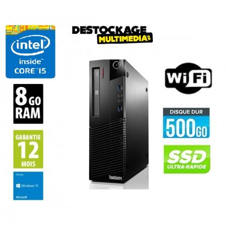 Lenovo ThinkCentre M83 quad core i5 4460 8Go 500Go SSD Graveur Dvd Wifi Windows 10 pro 64
