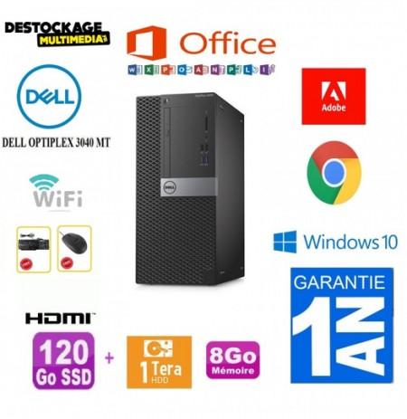 DELL OptiPlex 3040 MT Core i5 6500 8Go 120 Ssd 1 to Wifi Win10 Office 365