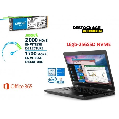 Dell Latitude 5490 Intel Quad Core i7 8650U Vpro 16 GB 256 SSD Bluetooth Windows 10 Pro Office 365
