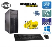 Hp elite 8300 Core i3 3.3ghz 8gb 500go dvdrw wifi windows 10 open office avast